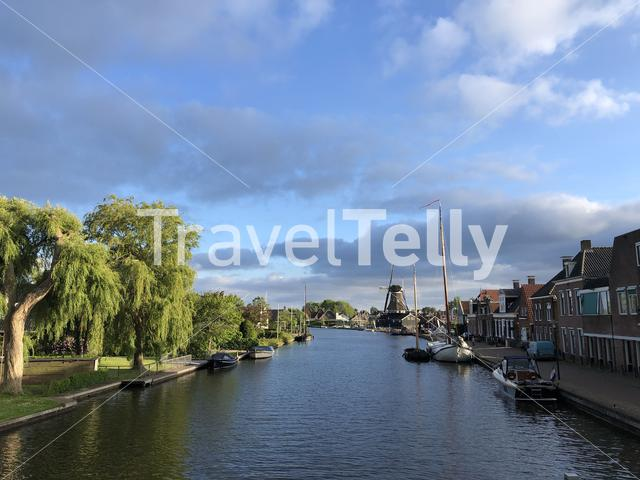 Village Woudsend in Friesland The Netherlands