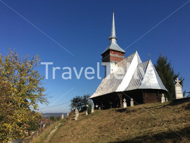 The wooden church from Bradet in Romenia
