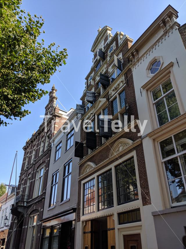 Architecture in the old town of Deventer, The Netherlands