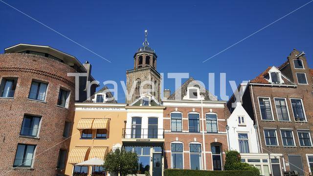 Architecture with the Lebuïnuskerk in the old town of Deventer The Netherlands