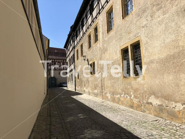 Street around the Bamberg Cathedral in Bamberg Germany