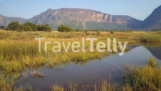 Mountain range in waterberg game park south africa