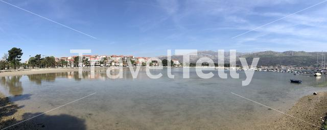 Panorama from the bay in Stobrec Croatia