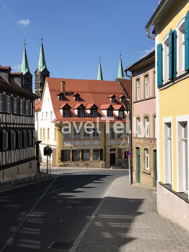 Colorful houses in the old town of Bamberg Germany