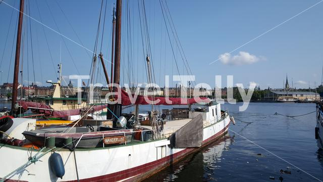 Classic Sailboat In Skeppsholmen Stockholm Sweden