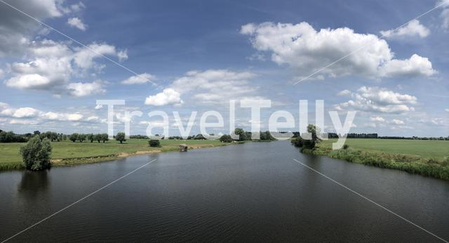 River the Dierensche Hank panorama in The Netherlands