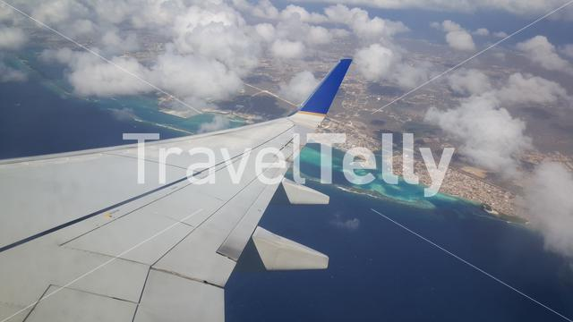 Take off from Aruba airport with Copa Airlines