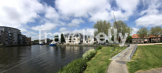 Panorama from the canal around Sneek, The Netherlands
