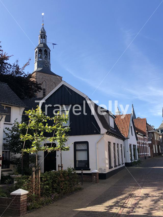 Old town street in Groenlo, The Netherlands
