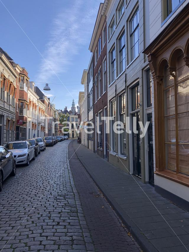 Street in the old town of Groningen The Netherlands