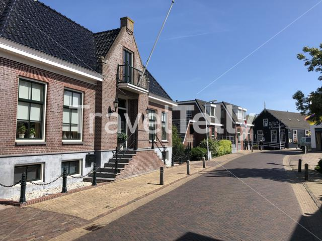 Street in the old town of Stavoren, Friesland The Netherlands