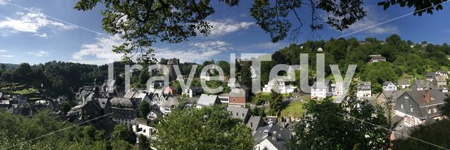 Panorama from Monschau in Germany