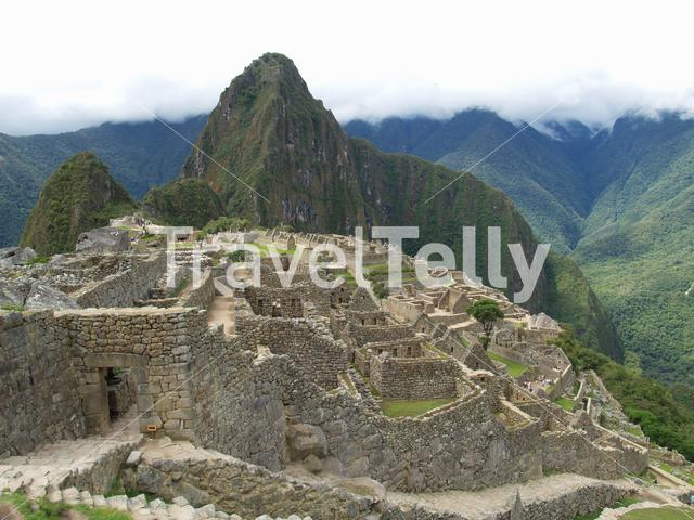 Machu Picchu at the Andes Mountains in Peru