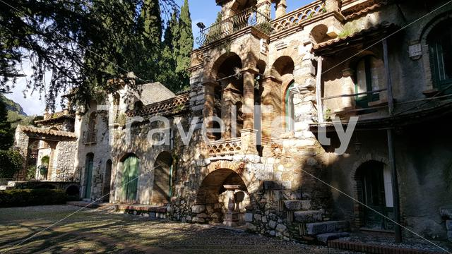 The Garden of Villa Comunale in Taormina, Italy