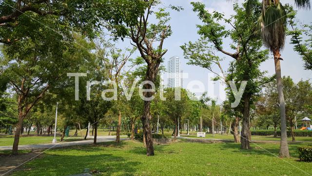 Central Park in Kaohsiung City Taiwan