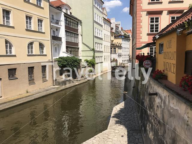 Cruise at the Certovka canal in Prague Czech Republic