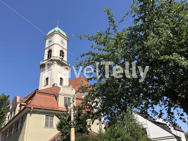 The Kirche St. Mang church in Regensburg, Germany