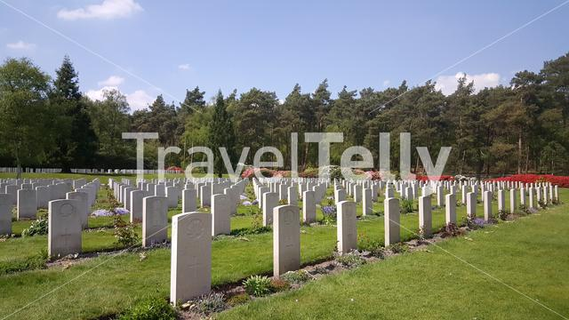 Soldiers graveyard at the Canadian War Cemetery in Holten, The Netherlands