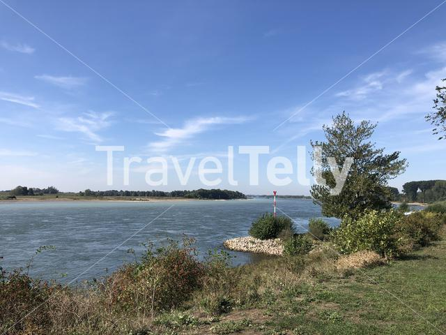 The Rhine river at Wesel am Rhein in Germany