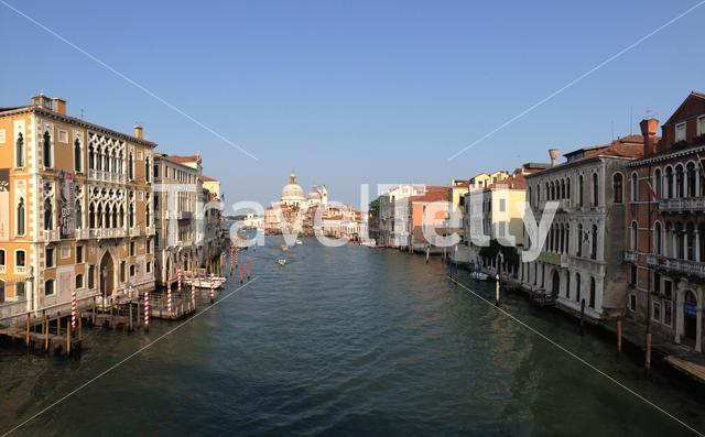 View from the Ponte dell'Accademia in Venice Italy