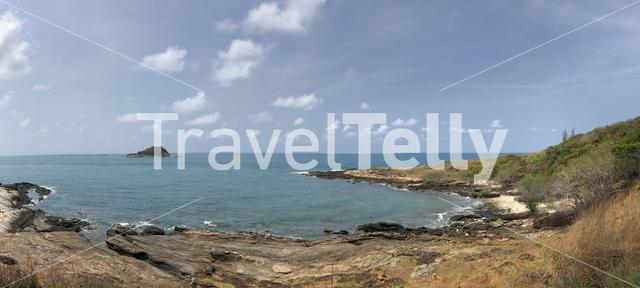Panorama from the coast of Koh Samed island in Thailand