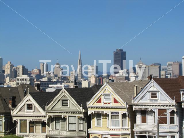 Painted Ladies captured from Alamo Square, San Francisco, California