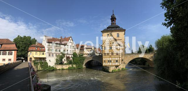 Panorama from the Altes Rathaus in Bamberg Germany
