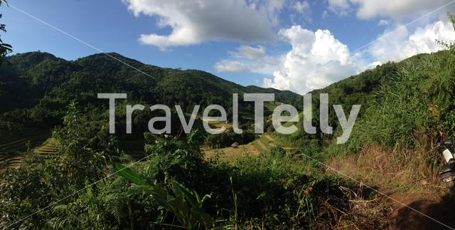 Mountain landscape panorama in the hills of Northern Thailand