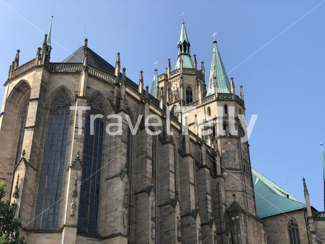 The Erfurt Cathedral in Erfurt, Germany