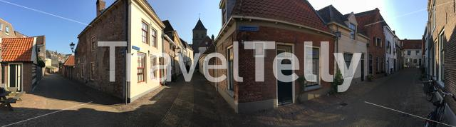 Panorama from the old town in Kampen The Netherlands