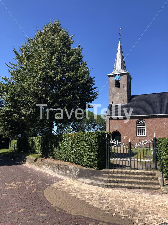 Church in Garyp, Friesland, The Netherlands