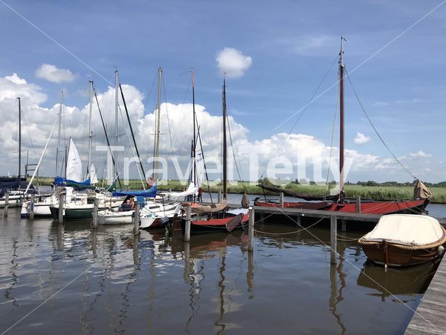 Harbor in Broek, Friesland The Netherlands