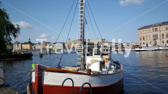 Old fishing trawler and part of the Stockholm Ship Association