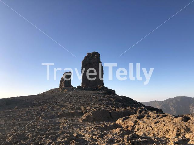 Roque Nublo the volcanic rock on the island of Gran Canaria