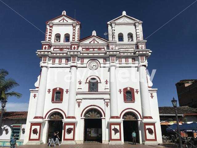 Nuestra Señora del Carmen, church in Guatapé, subregion of Eastern Antioquia, Colombia.