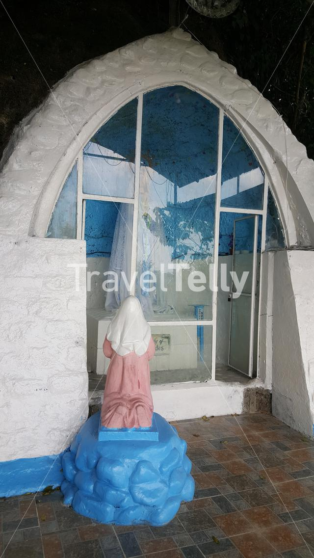 Statue of our lady of Lourdes at Grotto in Bamban Tarlac, Philippines