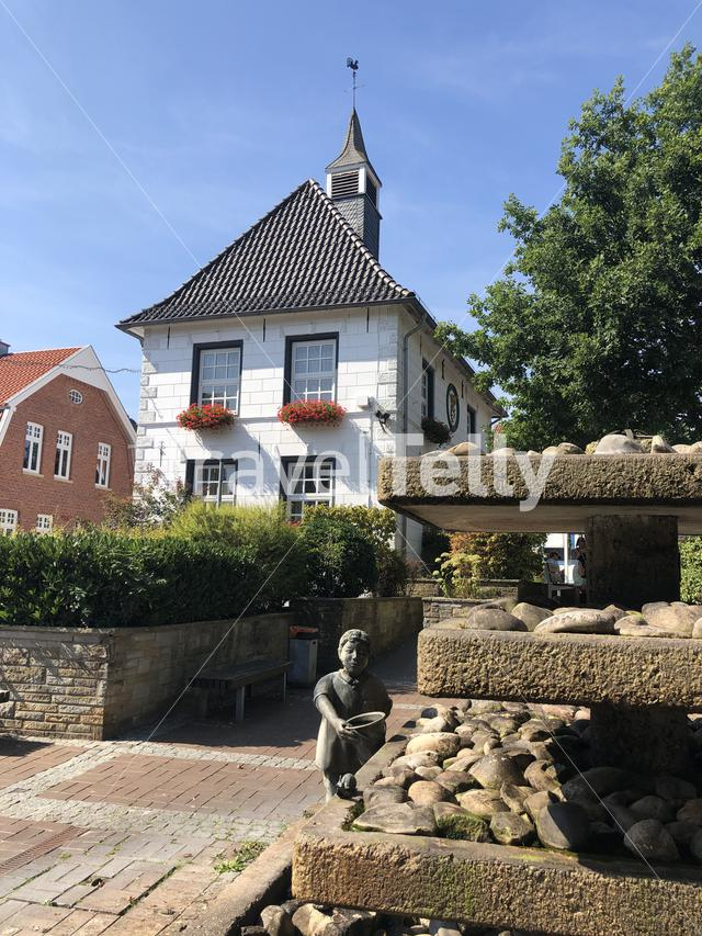 Old Town Hall in Uelsen, Germany