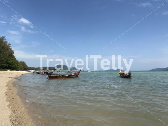 Fishing boats in Phuket Thailand