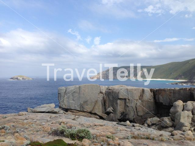 The Gap and Natural Bridge a stone formation in Torndirrup National Park Albany Western Australia