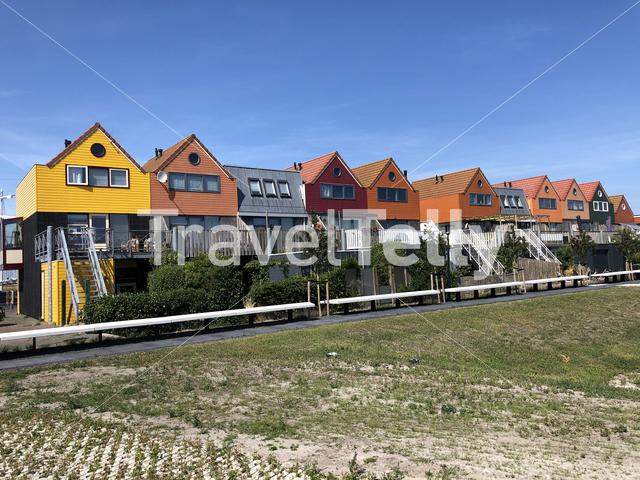Colorful houses in Stavoren, Friesland The Netherlands