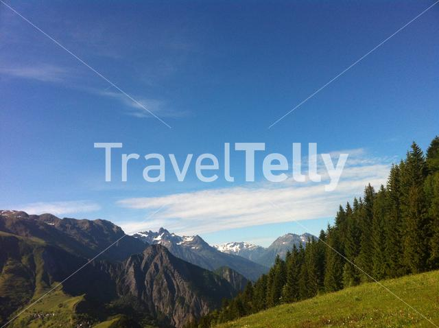 French Alps landscape from Le Rivier France