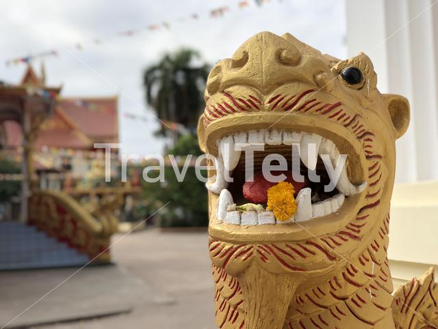 Statue at That Luang Tai Temple in Vientiane Laos