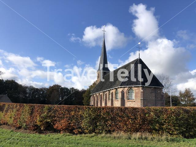 Church in Nijeholtpade in Friesland, The Netherlands