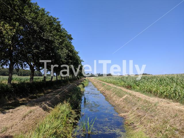 Canal in Drenthe The Netherlands