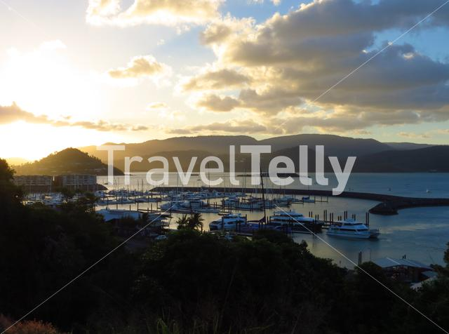 Sunset Harbor Airlie Beach Queensland