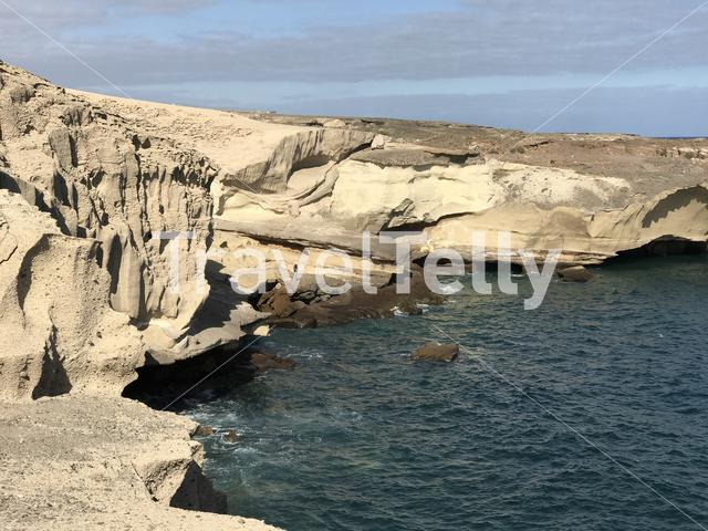 Rocky coast of San Miguel de Tajao in Tenerife