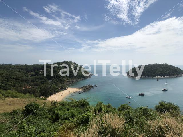 View from Windmill Viewpoint in Phuket, Thailand