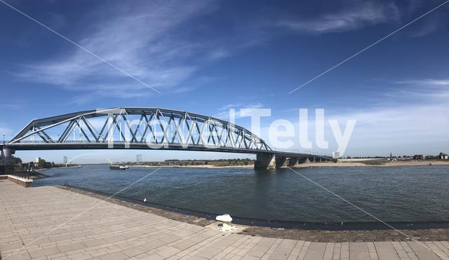 The Waal river panorama in Nijmegen, Gelderland The Netherlands