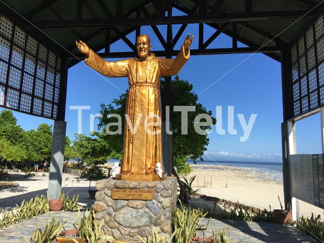 Golden statue from a saint at the at Virgin Island in Panglao, Bohol the Philippines
