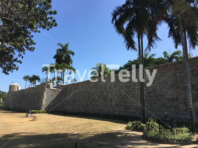 Wall of Fort San Pedro in Cebu the Philippines